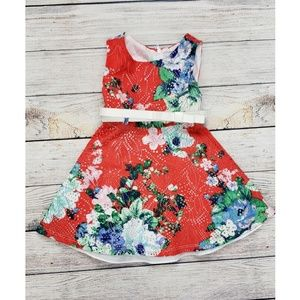 Sweet Heart Rose Laser Cut Floral Dress Size 2T